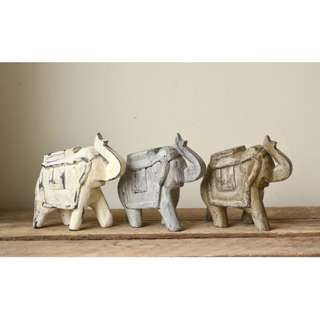 Small Hand Carved Wooden Decorative Elephant
