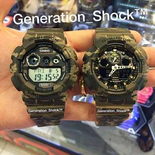 COUPLE💝SET : 1-YEAR OFFICIAL WARRANTY: BRAND NEW IN BOXES Originally Authentic G-SHOCK Resistant in ANACONDA-RAINFOREST COLOUR Camouflage Series in BEST-FRIEND FOREVER Absolutely Toughness Best For Most Hardcore Rough Users & Unisex