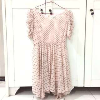 Polka Chiffon Dress