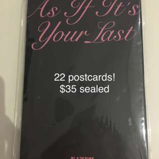 blackpink official pop up store postcard set- rare