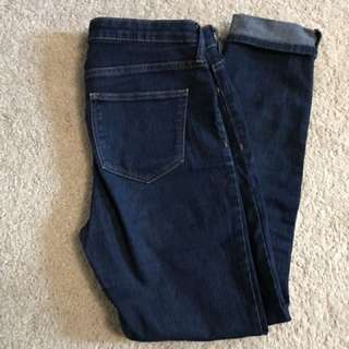 Dark wash high wasted jeans