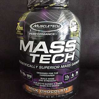 $55 only! New and Sealed - MuscleTech Mass Tech - Chocolate - Expiry Sep 2019