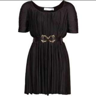 BNWOT authentic designer Alice McCall Bridgewater House Black Pleated Dress $349 srp