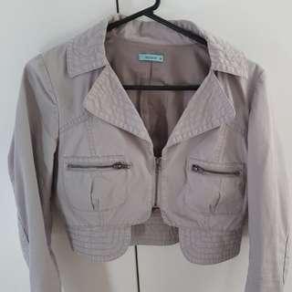 Kookai cropped military jacket size 38