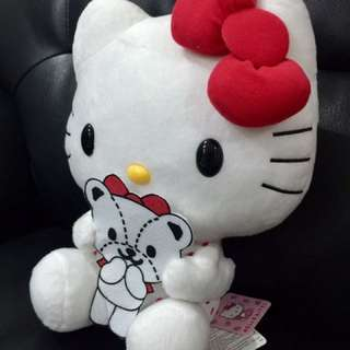 NWT. Hello Kitty in White with Red Dot Dress