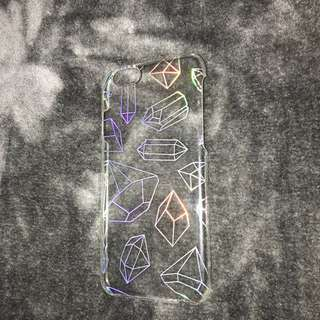 Reflective diamond rainbow case