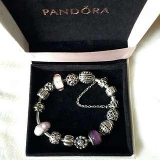 Authentic Pandora Bracelet and Charms