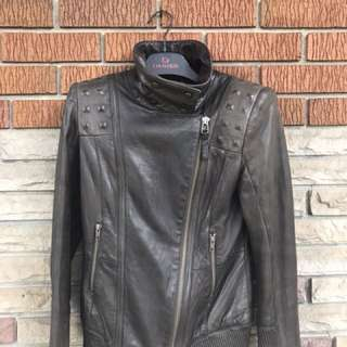 Mackage leather jacket size M