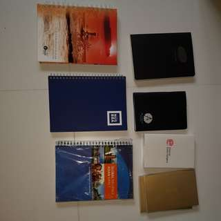 Assorted notebooks