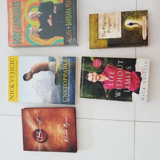 🚚 Assorted books (motivational etc)
