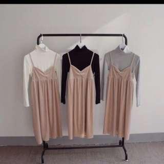 Velvet Pink Dress (nude pink) inner Not included