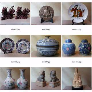 Asian Oriental Furnishings Decor Figurines Antiques