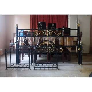 Brass King Sized Bed with 2 Night Stands NEW SALE PRICE