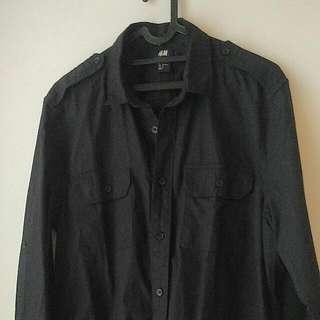 H&M Long Shirt Size M