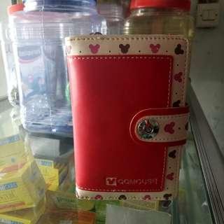 Dompet QQmouse warna merah
