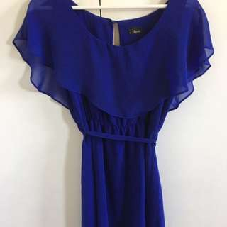 Bardot Electric Blue Flowy Dress 10