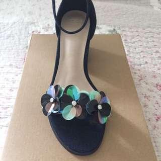 Embellished sandal heels