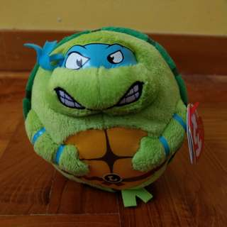 Teenage Mutant Ninja Turtles: Leonardo TY Beanie Ballz soft toy
