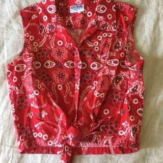 Vintage JayJays Bandana Tie Top Small