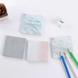 White Marble Sticky Notes (big)