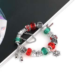 Pandora inspired Christmas bracelet with charms