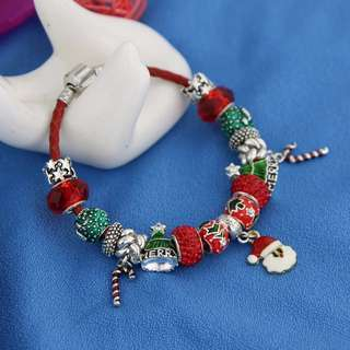 Pandora bracelet with Christmas charms