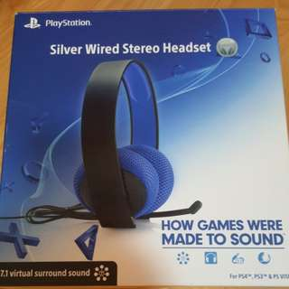 PS Silver Wired Headset