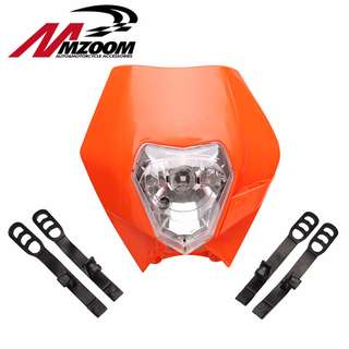 Universal KTM, Kawasaki, Suzuki, yamaha headlight white black orange green