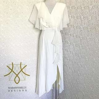 Vintage White Flouncy Dress for Rent