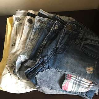 ALL 6 FOR $15 - Assorted shorts SIZE 6/8