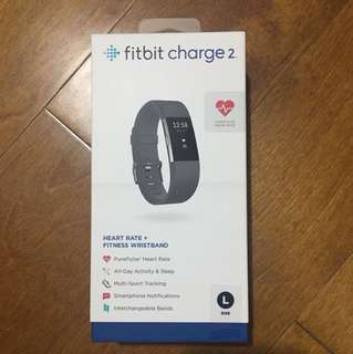 BRAND NEW Fitbit Charge 2 Black Large