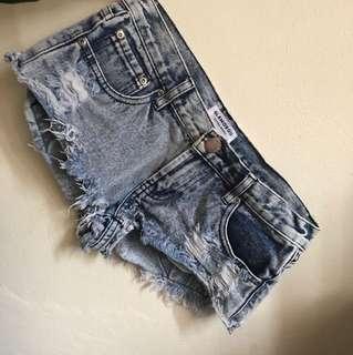 Glamorous mid rise cheeky shorts