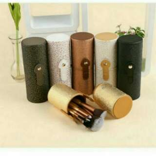 Makeup Cosmetic Brush Pen Holder Storage PU Leather Container