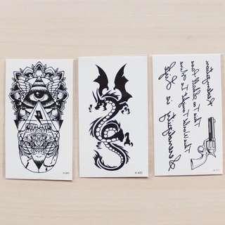 Temporary Tattoos (Set of 3 pcs) #1212YES