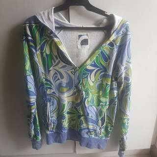 Old navy blue and green swirl hoodie