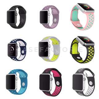 42mm/38mm APPLE WATCH SERIES 3/2/1 THIRD-PARTY APPLE WATCH NIKE LIGHTWEIGHT SPORT BAND CASE CASING COVER STRAP BAND (Self-Collection) (Postage)