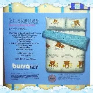 蓓莎正版鬆弛熊雙人床單連枕袋