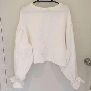 Zara   Puffy Sleeve Crop BRAND NEW