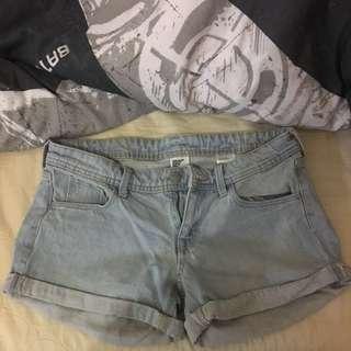 Low Waist Denim Shorts