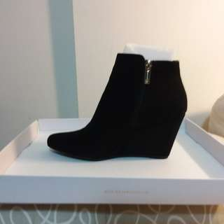 Brand new Jessica simpson black wedge ankle boots/booties