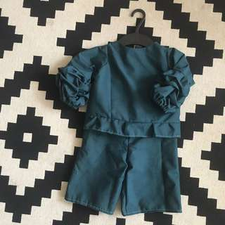 Kids Ruched Patch Top with Cullotes