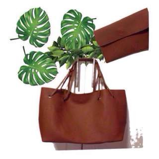 REPRICED TOTE BAG WITH SMALL POUCH