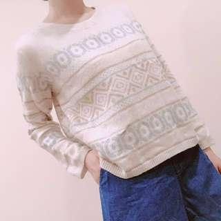 H&M 毛衣 圖騰 波西米亞