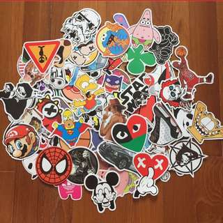 25 For $5.50 Only!! Waterproof HD PVC luggage Laptop Stickers Scooter Bicycle Sporting Gear Motorcycle Stickers