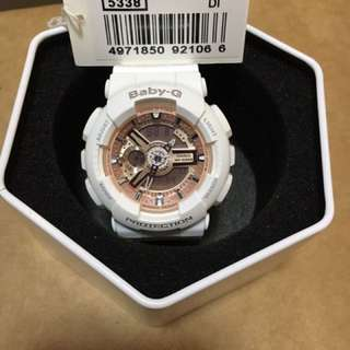 Original Baby-G White BA110 new with tag