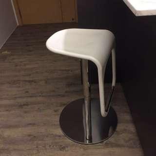 2 IKEA white bar stools