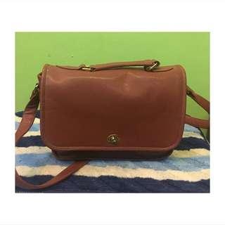 brown korean sling bag