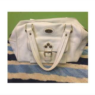 celine vintage white handbag