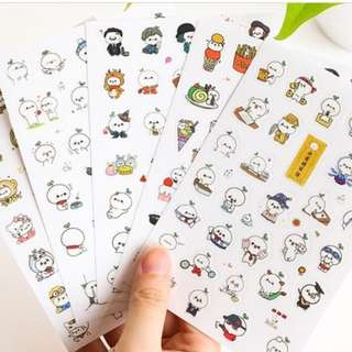 Cute Character PVC Sticker