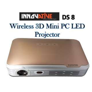 Innovative DS8 BATTERY WIRELESS 3D MINI PC ANDROID LED PROJECTOR